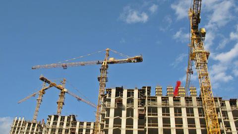Crane construction time lapse Footage