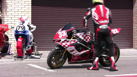 sport bike Stock Video Footage