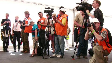 photo video press Stock Video Footage