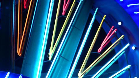 night neon light casino Stock Video Footage