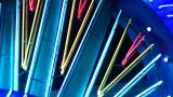 Night Neon Light Casino stock footage