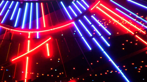 Night Neon Light Casino 5 stock footage