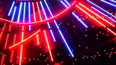 night neon light casino 5 Stock Video Footage