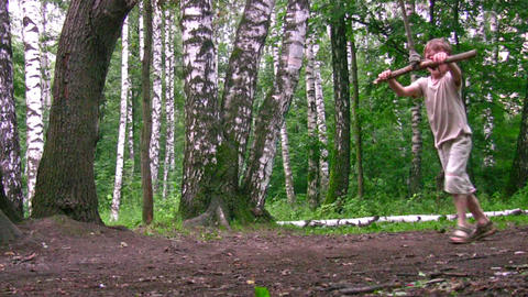 boy on swing in park Stock Video Footage