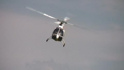 helicopter funnel Stock Video Footage