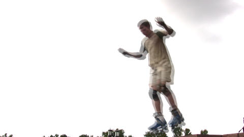 roller jumping Stock Video Footage
