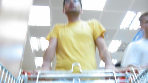 buyer in food shop Footage