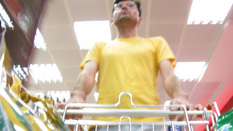 buyer in food shop Stock Video Footage