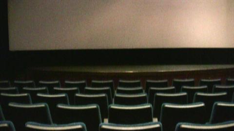 cinema interior 2 Stock Video Footage