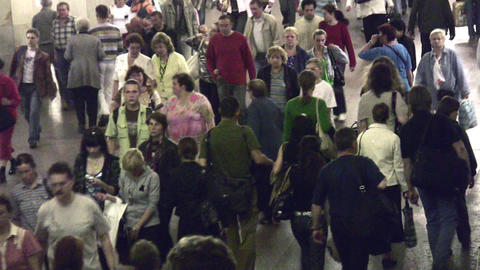 crowd subway Stock Video Footage