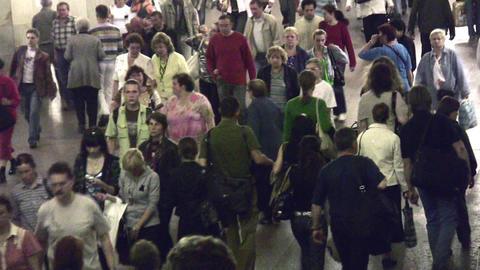 crowd subway Stock Video Footage