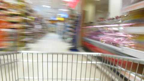 shopping cart time lapse Footage
