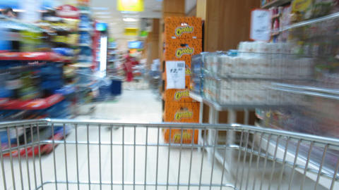 shopping cart time lapse Stock Video Footage