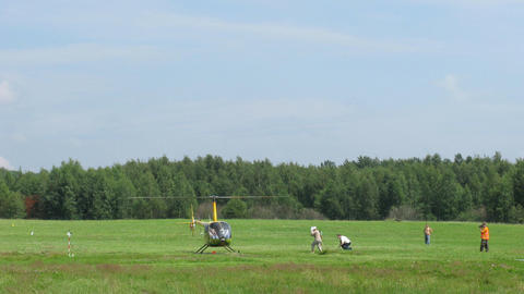 helicopter contest Stock Video Footage
