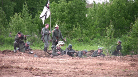 old war reconstruction Stock Video Footage