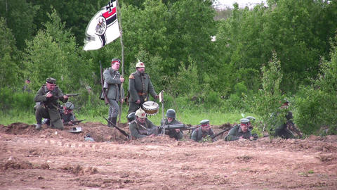 old war reconstruction Footage