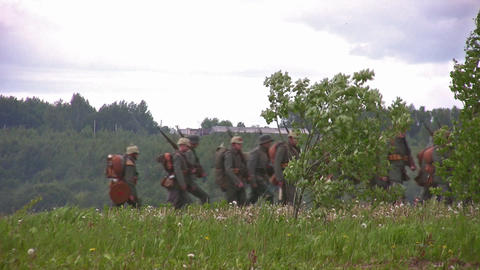 old war reconstruction 4 Footage