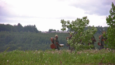 old war reconstruction 4 Stock Video Footage
