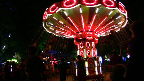 night carousel Stock Video Footage