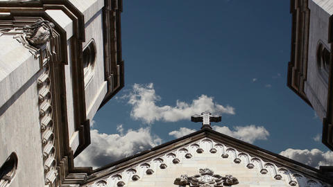 Cross Catholic Church In The Sky stock footage