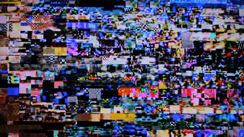 digital TV noise blocks Footage