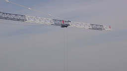 Boom of building crane Stock Video Footage