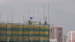 Builders at the construction site Footage