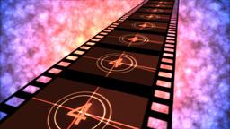 Movie Countdown Animation - Loop Red Purple Stock Video Footage