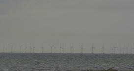 4K, wind energy plant Footage
