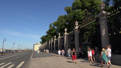 The grille of the Summer garden. Saint-Petersburg. Footage