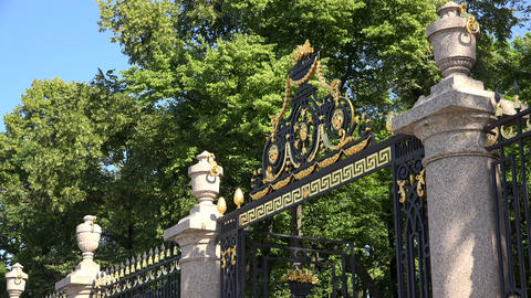 The grille of the Summer garden. Saint-Petersburg. Stock Video Footage