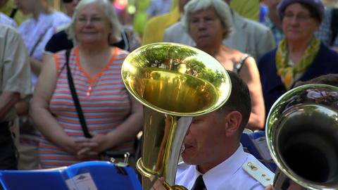 The trumpet in a brass band. 4K Stock Video Footage