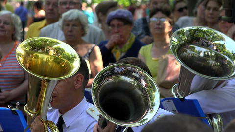 The Trumpet In A Brass Band. 4K stock footage