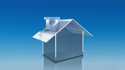 investment glass house sky HD Animation