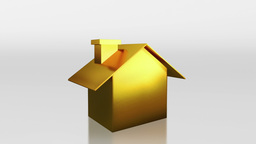 investment gold house saving HD Animation