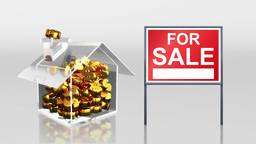 investment saving at house open signage HD Animation