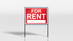 signage stand open house for rent HD Stock Video Footage