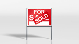 signage stand sold on top of for sale HD Animation