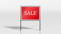 shop signage stand discount HD Animation