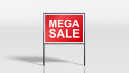 shop signage stand open and mega sale HD Animation