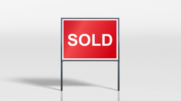 signage stand house for sale and sold HD Animation