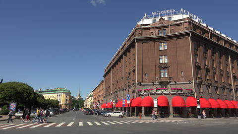 The Astoria Hotel. Saint-Petersburg. 4K Footage