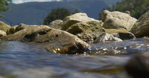 4K, Stream course, rippling water Footage