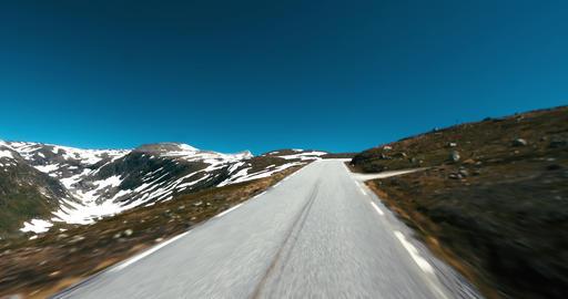 4K Scenic Drive, Norway, Auerland Hornsvatnet Stock Video Footage