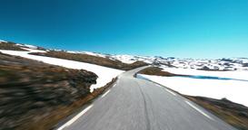 4K Scenic Drive, Norway, Auerland Hornsvatnet Footage