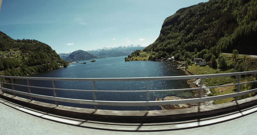4K Scenic Drive, Norway, Hardanger Fjord Footage