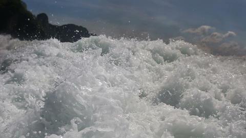 propellers rages in the ocean Footage