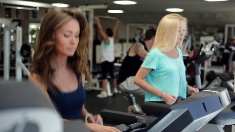 Training in a Gym Stock Video Footage