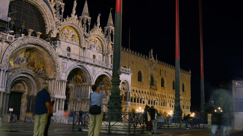 Scene from Venice city,Italy,with tourists in a fa Stock Video Footage