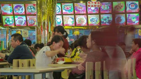 Shanghai fast food timelapse 01 Footage